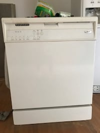 Whirlpool white dishwasher