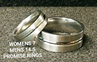 SZ 7 & 14.5 STAINLESS STEEL PROMISE RING SET Reno, 89512