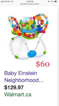 baby's multicolored jumperoo Montreal, H1R 1R3