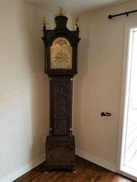 Hand carved antique grandfather clock for sale