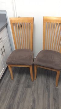 two brown wooden framed padded chairs Long Beach, 90813