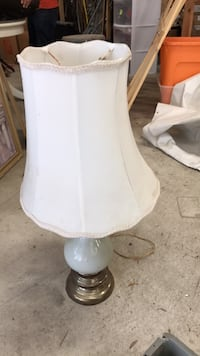 white and gray table lamp Burtonsville, 20866