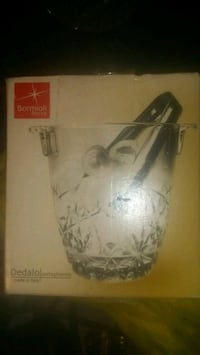 Italian Crystal Ice Cube Bucket W/ Tong  Youngsville, 70592