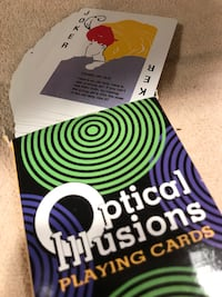 $1 Optical Illusion Playing Card Deck New Condition SCROLL PICTURES Lake Forest, 92630
