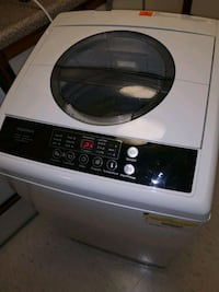 white and black top load washing machine Mississauga, L5A 3X1