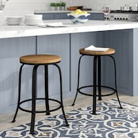 "(2) 24"" Swivel Bar Stool  Fairfax"