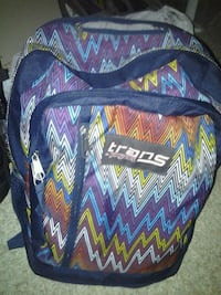 blue, red, and black Jansport backpack Oklahoma City, 73127