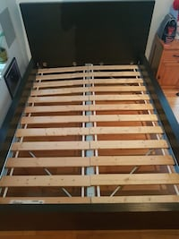 brown and white wooden bed frame Montréal-Est, H1B 5A3