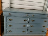 white and blue wooden dresser New Albany, 38652