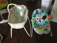 baby's white and blue bouncer Raleigh, 27606