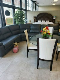 black leather power  sectional sofa Boynton Beach, 33435