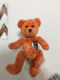 Red and brown bear plush toy Aurora, 80012