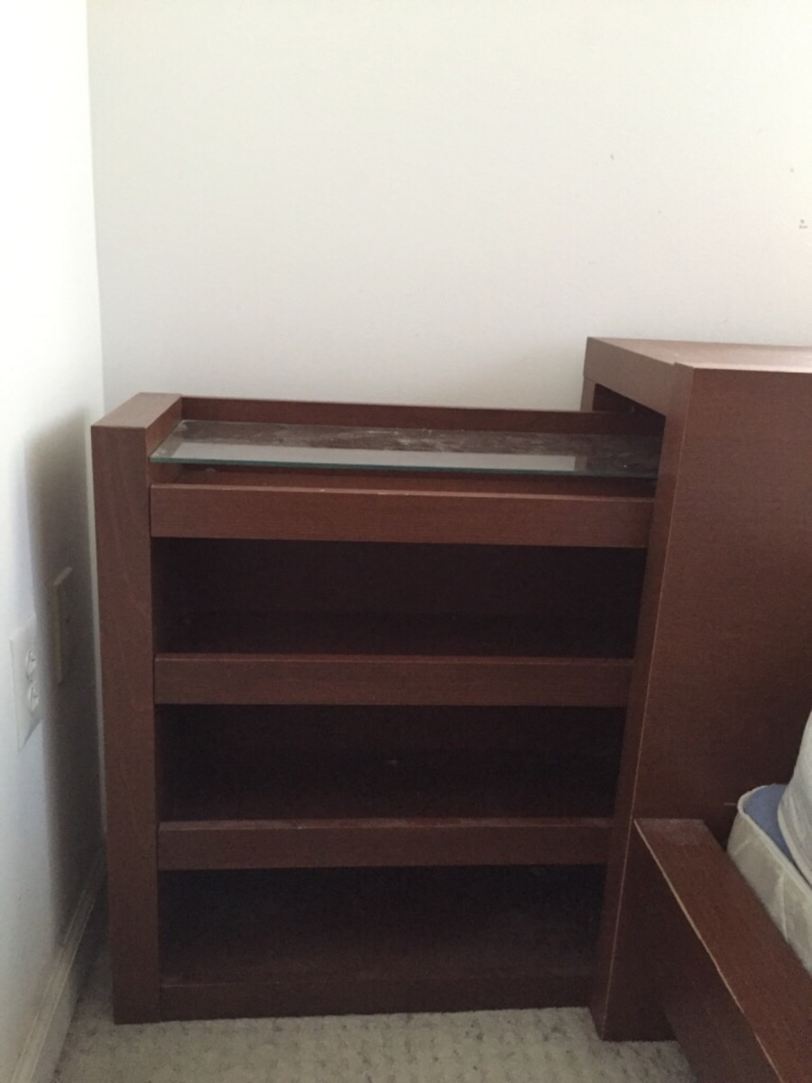 Queen Size Storage Bedroom Sets: Used MALM Headboard-Queen Size-Frame & Headboard Storage
