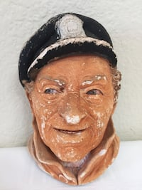 Bossons Vintage Handpainted Chalkware Bust ~ Weathered Sea Captain ~ England Wall Decor Phoenix, 85044