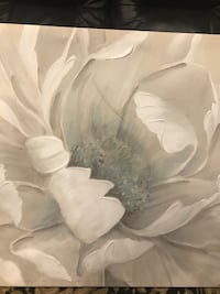 White and gray rose painting Centreville