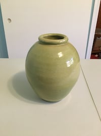 Heavy green vase