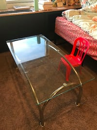 Glass table + chair bonus