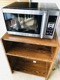 Black and decker Microwave with cart Herndon, 20170