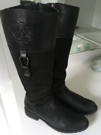 Women's Tall leather riding boots: Waterproof, Blondo: size 6 Toronto, M9B