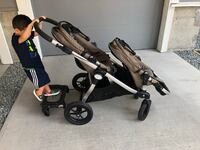 City select double stroller with glider board  Port Coquitlam, V3C
