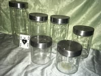 Set of 6 glass jars with stainless steel lids  Calgary, T3M 1M4