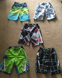 5 Pair of Boys Board Shorts/Bathing Suit-Size 8-10-Medium Jackson, 08527