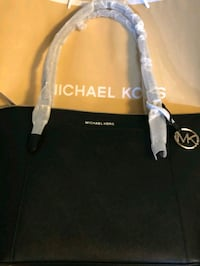 black and white Michael Kors leather tote bag Rockville, 20852