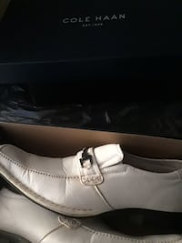 pair of white Cole Haan leather loafers Hamilton, L8N 1C1