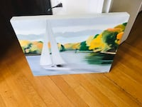 Sailboat oil paintings  Annapolis, 21402