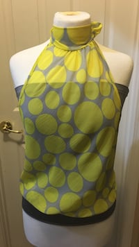 Yellow and gray polka dots lace halter top Jacksonville, 32222