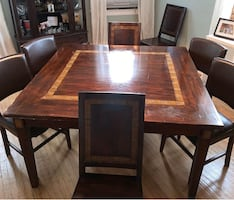 All wood dining set
