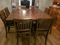 Pub height table with 8 chairs Northumberland County, K0K 1S0