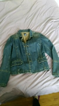 blue denim button up jacket Berwyn, 60402