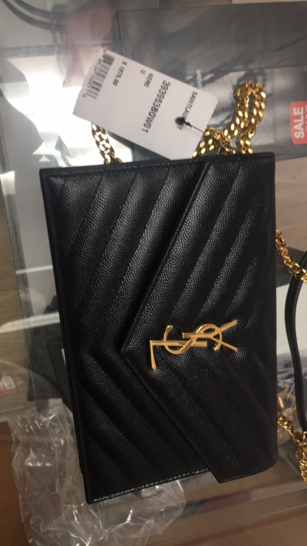 Used Black and gold-colored YSL leather crossbody bag for sale in Queens -  letgo 1db55b28c8ac1
