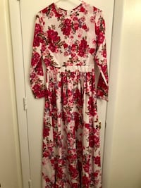 White and pink floral long-sleeved dress Lorton, 22079