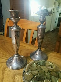 2 Japanese Silver candle holders Baltimore, 21209