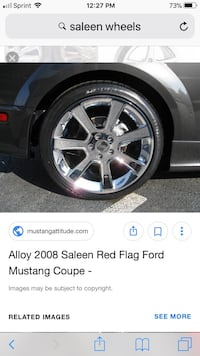chrome alloy Saleen Red Flag Ford Mustang 7-spokes wheel with tire