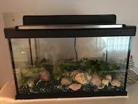 Black framed clear glass fish tank Montreal, H8N 2B6