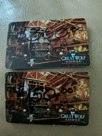 $500.00 Great Wolf Lodge gift cards Sussex County, 07422