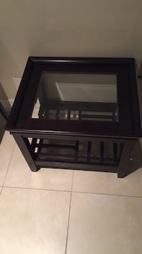 2 dark wood large end tables $70 each