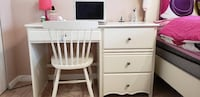 white wooden single pedestal desk Surrey, V3T 4X8
