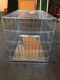 Gray Steel Collapsible Pet Crate