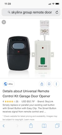 Remote garage opener with two openers Vaughan, L4L 1C2
