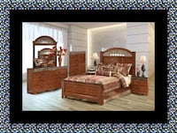 11pc Ashley cherry bedroom set with mattress 46 km