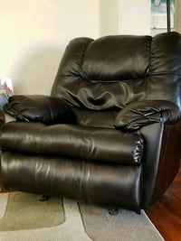 black leather recliner sofa chair 2243 mi