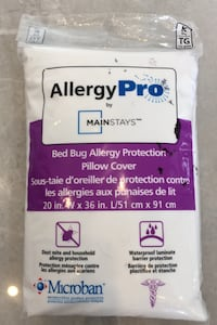 Bed bug allergy protection pillow cover  East Gwillimbury, L0G 1V0