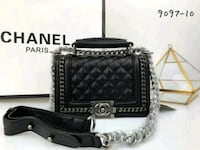 quilted black Chanel leather two-way bag