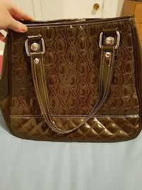 Brown purse with several compartments