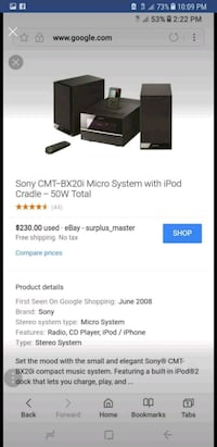 Sony CMT-BX20i Micro System With iPod Cradle scree Wichita, 67210