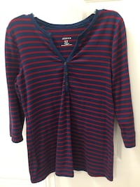 Blue and red striped Shirt  Mississauga, L5M 7N3
